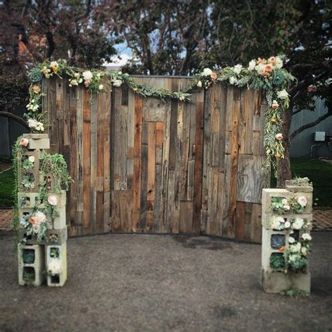 Wedding Backdrop Wood custom wood wall wedding backdrop by edison metalworks