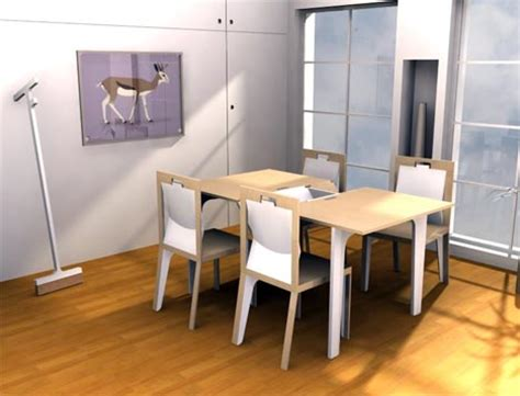 extendable wood dining room table set with a twist
