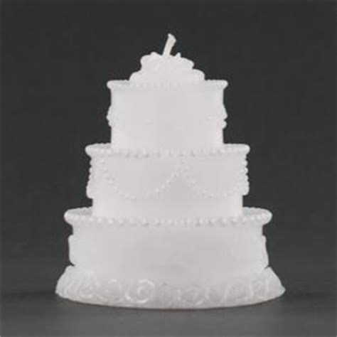 Wedding Cake Candle by Three Tier White Wedding Cake Candle