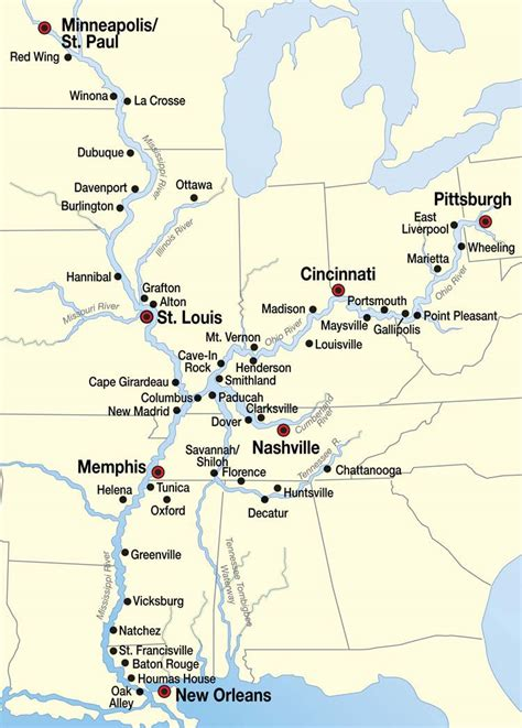 map of the mississippi river mississippi river cruise map places i d like to go mississippi river cruise