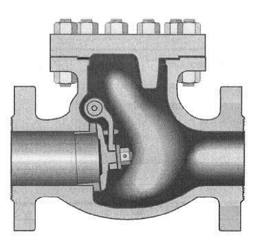 crane swing check valve crane 159 1 2xu 20in cast steel swing check valve 300