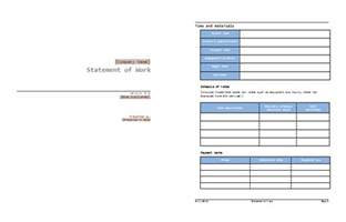 statement of work template word image gallery sow template