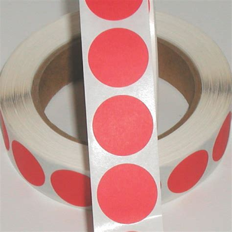1 quot pink fluorescent paper circle stickers by sticker