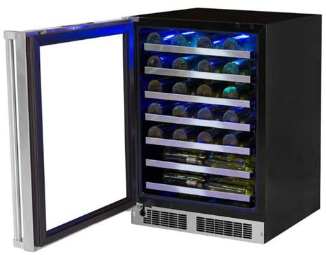 24 inch counter wine cooler marvel mp24wsg5x 24 inch counter depth wine cooler with