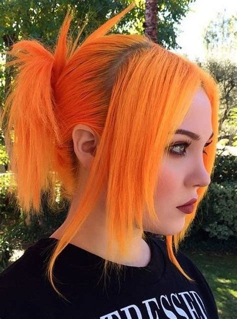 bright orange hair color crazy neon hair colors for 2017 best hair color ideas