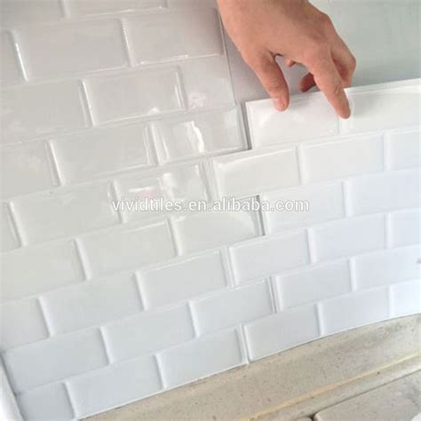 Self Adhesive Tile Stickers waterproof wall decoration stickers removable self