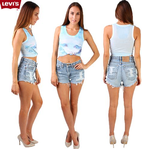 Frayed High Waist Denim Shorts vintage levis high waisted frayed denim shorts