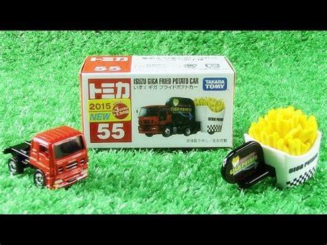 Diecast Tomica 55 Isuzu Giga Fried Potato Car ajoneuvot takara tomy no 55 isuzu giga fried potato