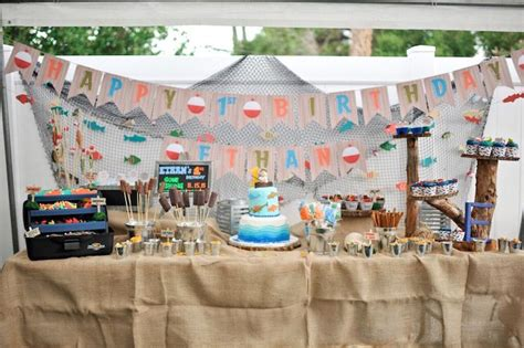 kara s party ideas dessert table from a gone fishing