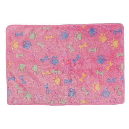 Pet Bed Soft Flannel Warm pet flannel bone print bed cushion soft warm