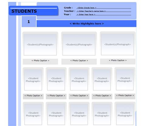 yearbook template free yearbook templates