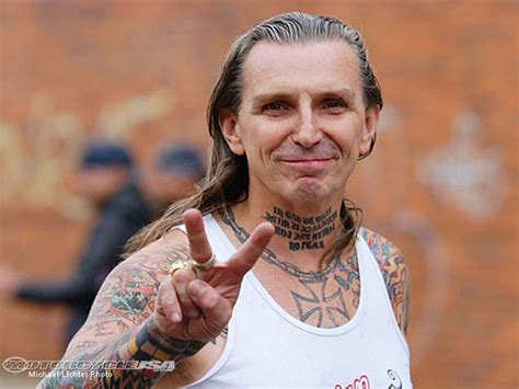 indian larry neck tattoo quote june softly biker blog indian larry forever