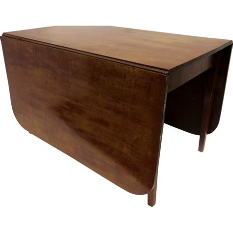 Square Drop Leaf Table Mahogany Drop Leaf Table With Square Tapering Legs From Blacktulip On Ruby