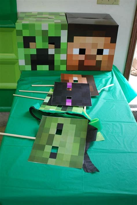 printable minecraft photo booth props props for the photo booth max s 5th birthday minecraft