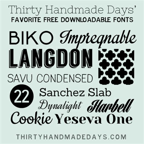 Handmade Fonts Free - favorite free fonts for the