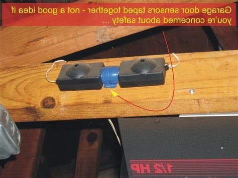 Bypass Garage Door Sensors by How To Bypass Garage Door Sensors Garage Door Sensor