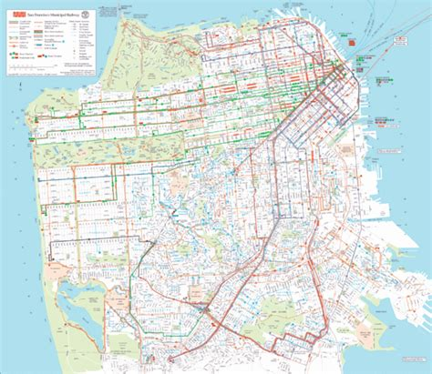 san francisco muni map pdf san francisco transportation map san francisco