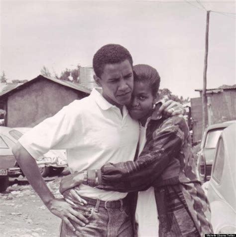 michelle obama young michelle obama twitter photo shows young barack hugging