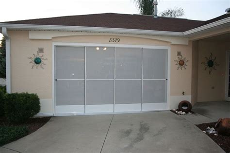 Sliding Garage Screen Doors Michele S Hide Away Screens Sliding Screen Doors For Garage