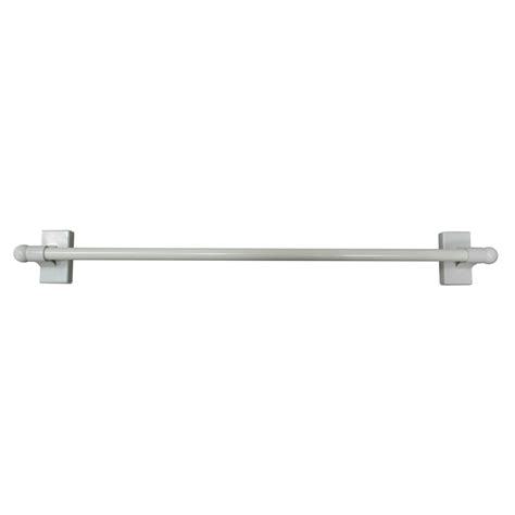 lowes curtain rods shop project source 16 in to 28 in magnetic curtain rod at