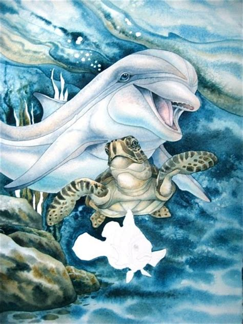 sea turtle dolphin tattoo sea creature tattoos