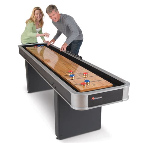 the indoor shuffleboard table hammacher schlemmer