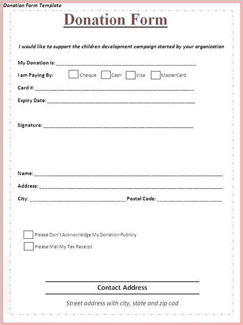 Donation Tax Receipt Template Word by Donation Receipts Templates Charitable Donations Receipt