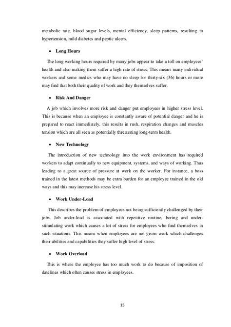 impact  occupational stress   effects  job