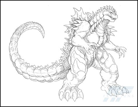 images of godzilla coloring pages a detailed sketch of almighty godzilla coloring page
