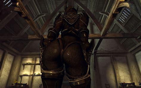 hairy cbbe hdt skyrim skyrim 스카이림 dark ebony valkyrie armor for cbbe body w