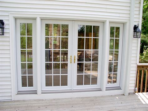 French Doors with Sidelights and Blinds between Glasses