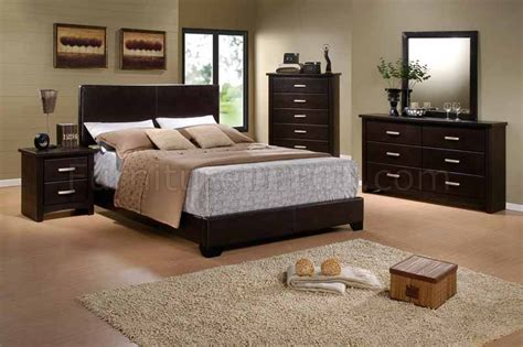 bedroom contemporary queen size bedroom sets queen size brown finish modern 5pc bedroom set w vinyl queen size bed