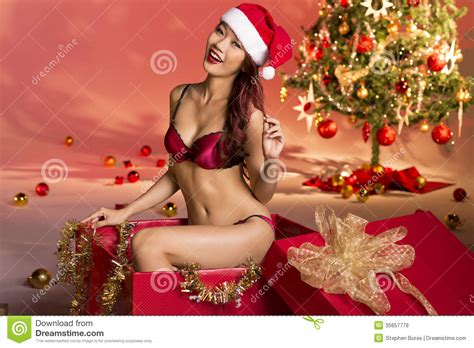 sexy christmas gift royalty free stock photos image