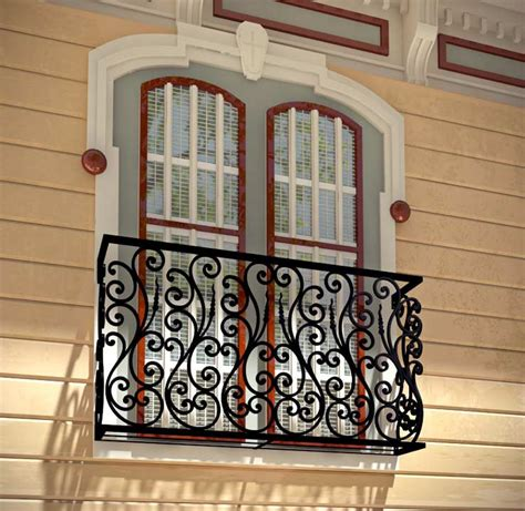 window balcony design aubergine faux balcony railing