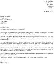 Cover Letter For Client Services by Customer Service Representative Cover Letter Exle