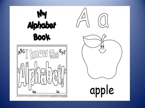 printable alphabet book template free abc book cover coloring pages