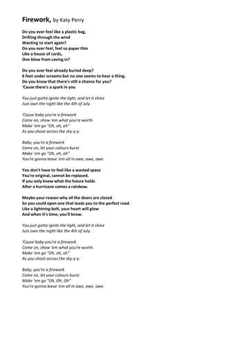 Analysis of Song Lyrics - 'Grenade', by Bruno Mars