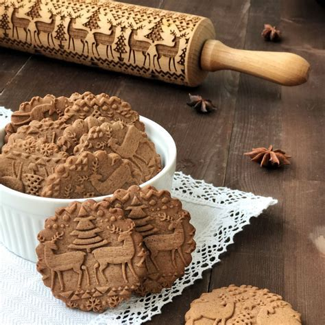 DEER   engraved rolling pin by Texturra ? shop online on
