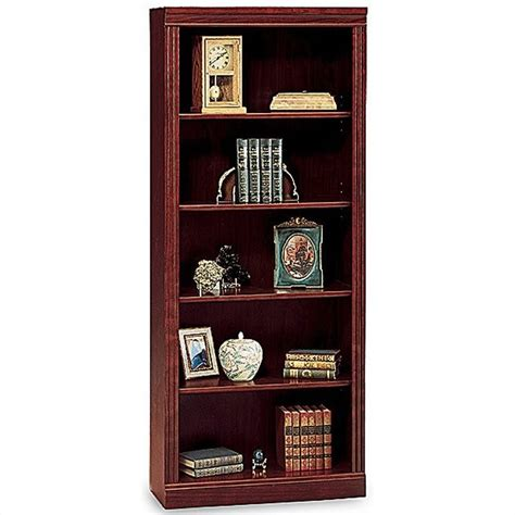 bush saratoga l shape executive desk w bookcase cherry