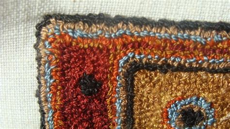 punch needle in mininature rug