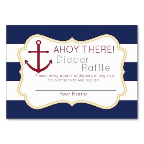 8 best images of free printable diaper raffle nautical
