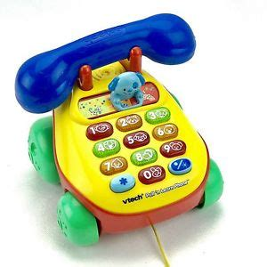 Vtech Animal Slide Phone vtech baby pull n learn phone lights animal sounds kid s educational ebay