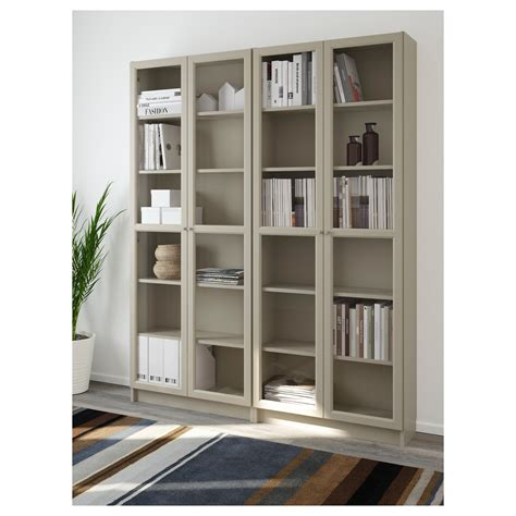 ikea blue billy bookcase billy oxberg bookcase beige 160x202x30 cm ikea
