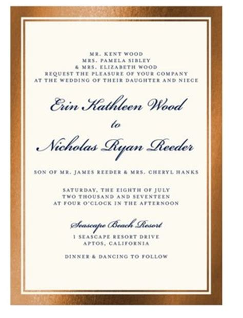 Wedding Invitations With Divorced Parents by Wedding Invitation Etiquette For Divorced Parents Of The