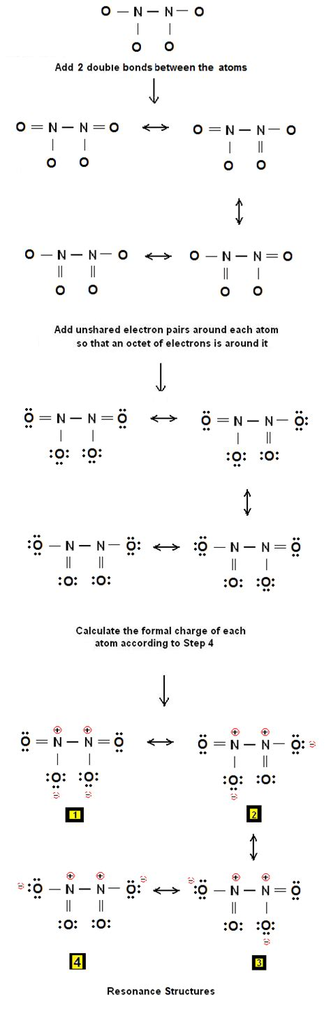 solved write a lewis electron simple method for writing lewis structures for n2o4