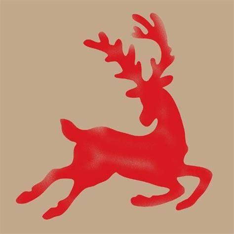 christmas reindeer stencil