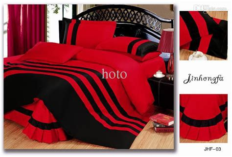 red and black king size comforter sets wholesale hot sale solid color 4pcs bedding sets queen