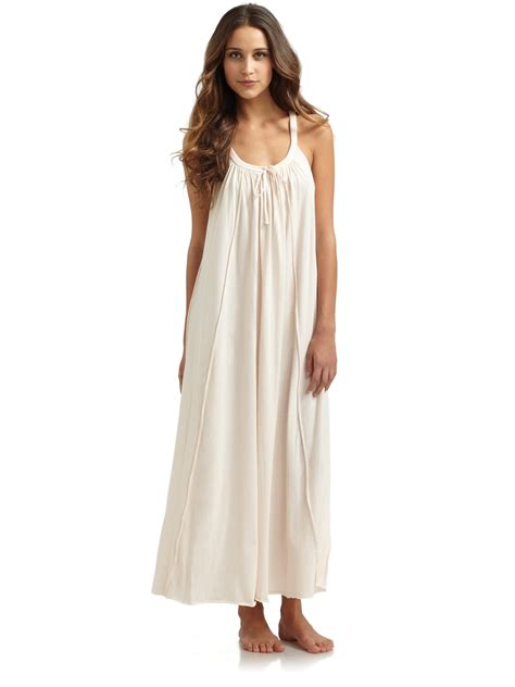Roberta Roller Rabbit donna karan new york pima cotton long sleeveless nightgown