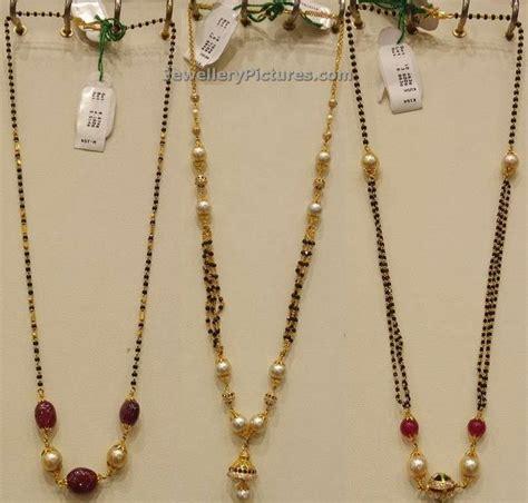 gold black chain designs karimani mala designs in gold jewellery designs black