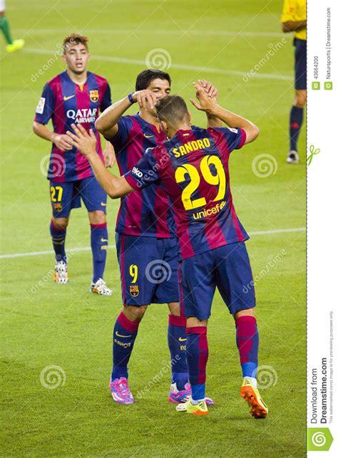 barcelona last match sandro and luis suarez editorial image image 43664200